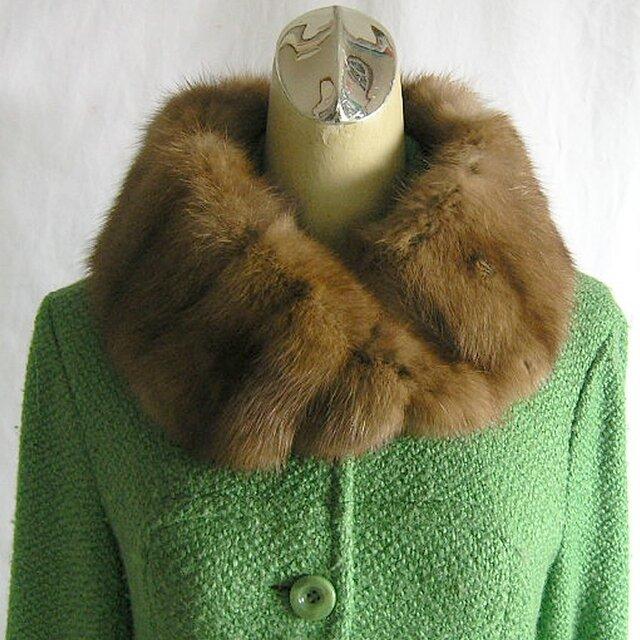 ¶ new antique fur ¶ 毛皮の王様ロシアンセーブルnejiriスヌード「goffur」の画像1枚目
