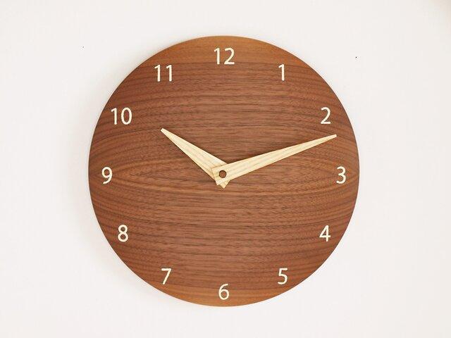 「そうそうさまご注文品」木製 掛け時計 丸 ブラックウォールナット材の画像1枚目