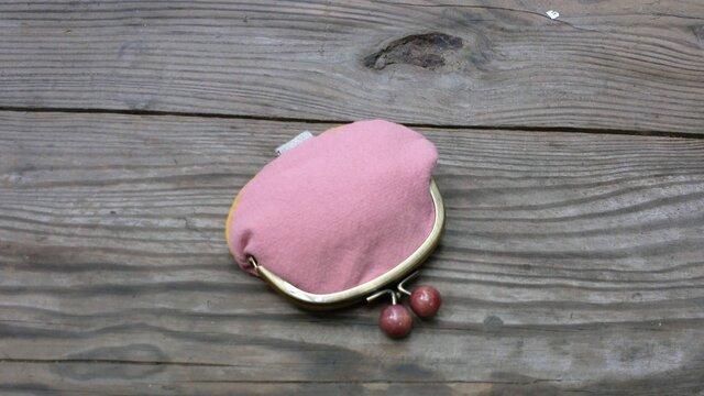 ふんわり桜色の小銭入れの画像1枚目