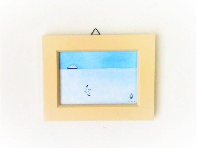 「遠い海の記憶」 小さな絵の画像1枚目