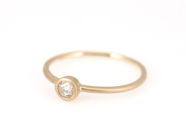 Rosecut Diamond Ring / roundの画像1枚目