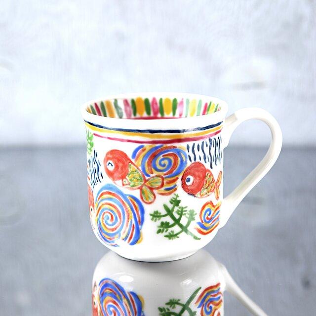 金魚絵のマグカップの画像1枚目