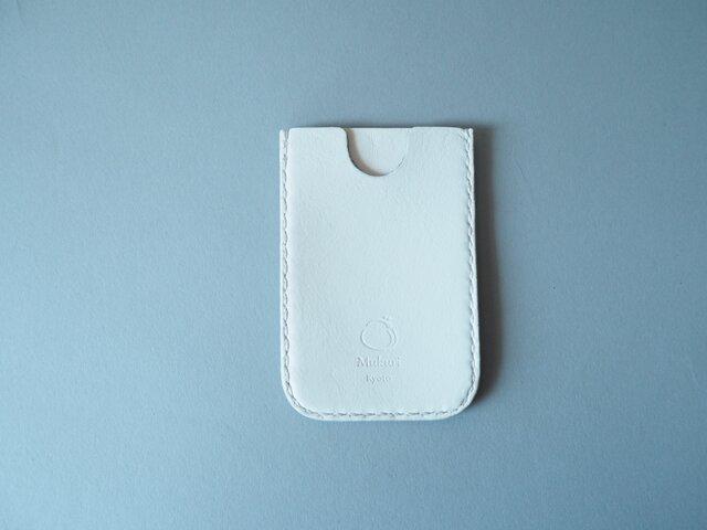 牛革のスマートパスケース ホワイトの画像1枚目