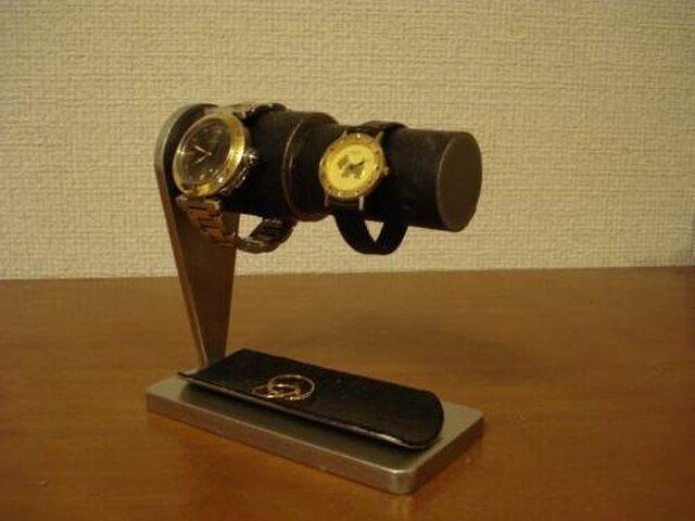 誕生日プレゼントに!男女ペア腕時計スタンド ハーフパイプトレイ ブラックトレイ   AKデザインの画像1枚目