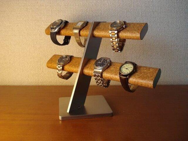 プレゼントに!ウォッチ スタンド 10本掛けだ円腕時計スタンド  AKデザインの画像1枚目