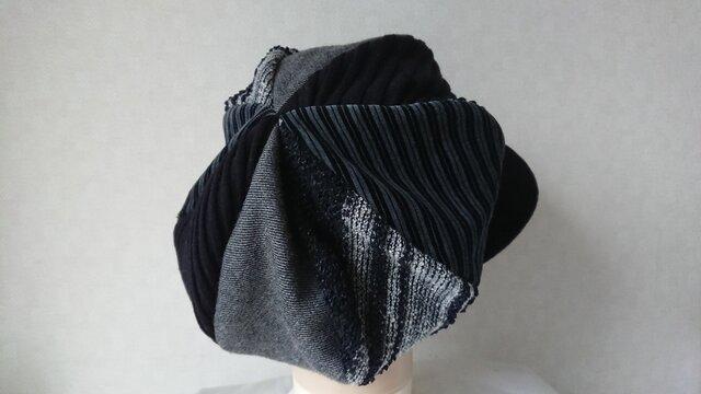 魅せる帽子☆【受注製作】ふんわり♪大きめサイズのキャスケット~モノトーンの画像1枚目