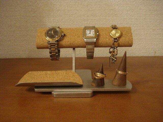 愛する人へのプレゼント♪3本掛け腕時計、アクセサリーディスプレイスタンド 受注販売 TUモデル No.141009の画像1枚目