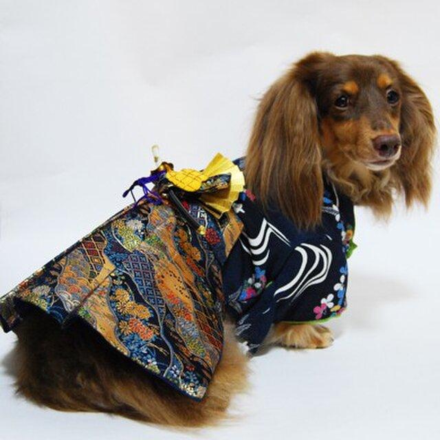【犬袴】牛若丸 オーダーメイド 犬服 犬の着物の画像1枚目