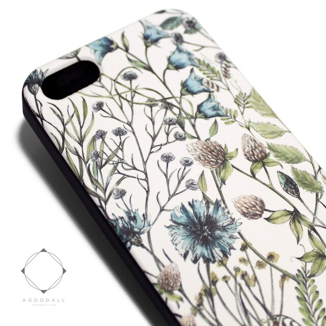 f3ec23c0c9 iphone5/iphone5s用/iphoneSE用 軽量レザーケースiphone5カバー(花柄)ワイルドフラワー ボタニカル