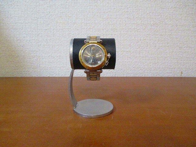 ウオッチスタンド かわいい腕時計デスクスタンド ブラックの画像1枚目