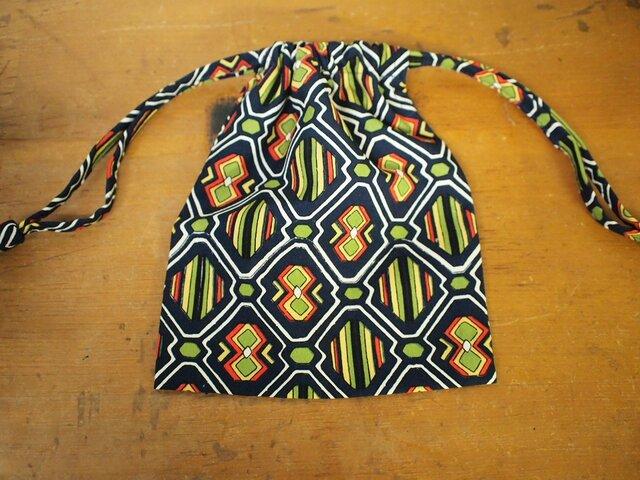 昭和レトロな着物地の巾着袋 3セットの画像1枚目