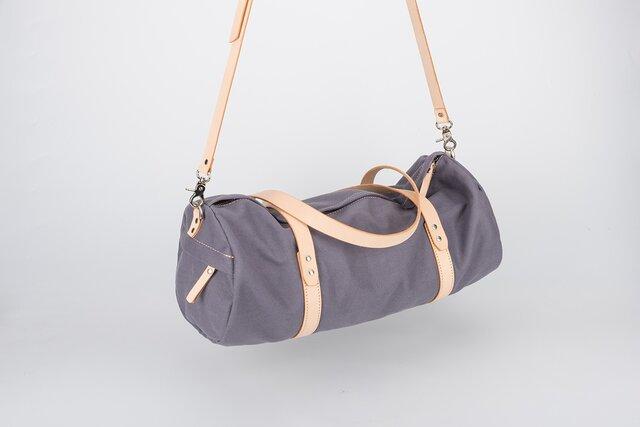 帆布+本革手作りのクラシックハンドバッグショルダーバッグの画像1枚目