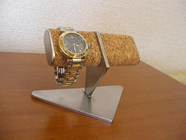 プレゼントに 機能的2本収納腕時計スタンドの画像1枚目