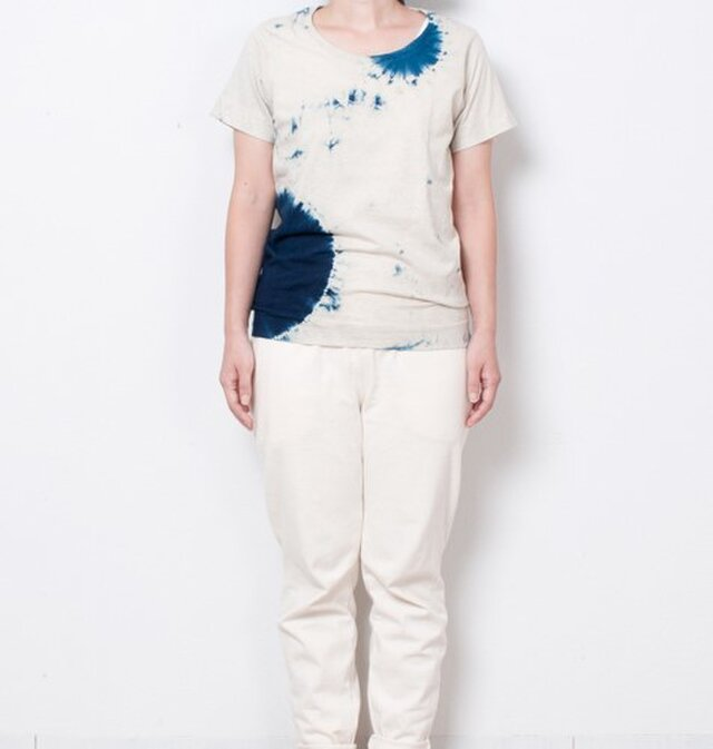 藍染 Tシャツ size1 白影丸の画像1枚目