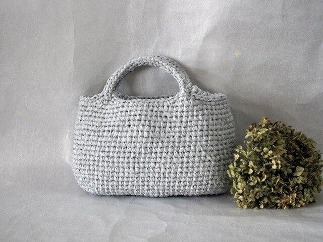 裂き編みバッグ 横長マルシェバッグ【Mサイズ】の画像1枚目