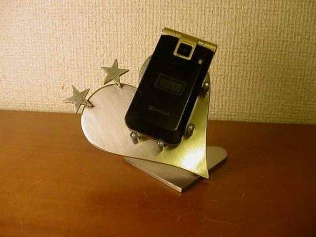 プレゼントに ハートダブルスター携帯電話スタンドの画像1枚目