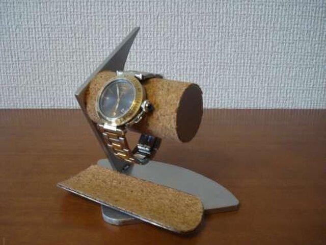 プレゼントに 2本掛けインテリア腕時計スタンドの画像1枚目