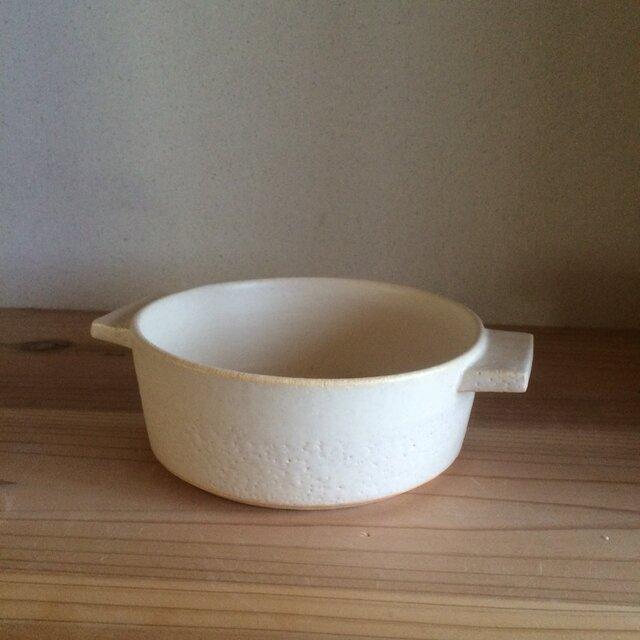 耐熱 グラタン皿 foggy (白)の画像1枚目