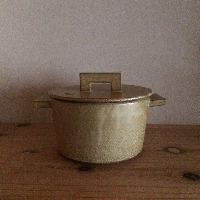 耐熱クリーム 小鍋の画像1枚目