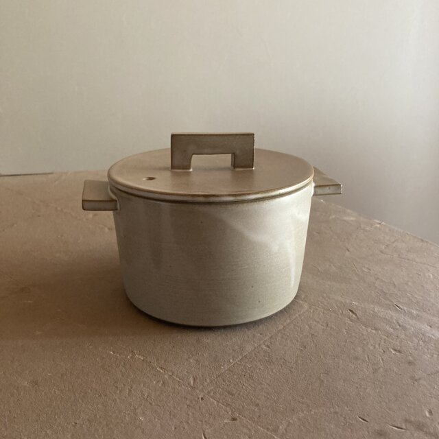 耐熱 小鍋 モカ(ブラウンベージュ)の画像1枚目