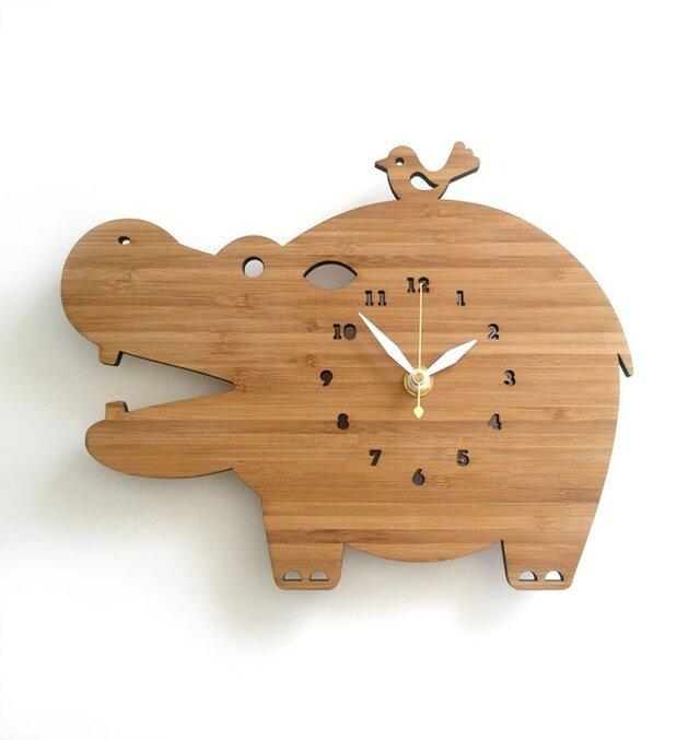 Decoylabの掛け時計 HIPPOの画像1枚目