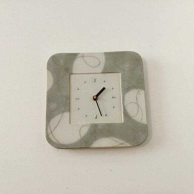 (大) スクエア掛け時計 パターン&ライン no.1の画像1枚目