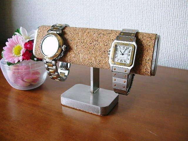 プレゼントに だ円どっしり2本掛け腕時計スタンドの画像1枚目