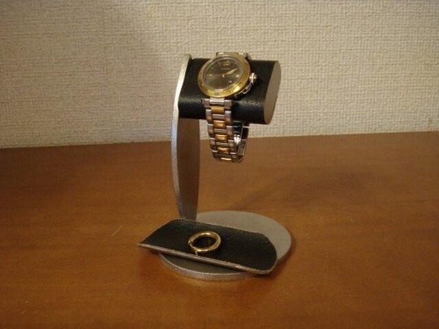 腕時計スタンド ちょっと背が高いシングルブラックコルク腕時計スタンドの画像1枚目