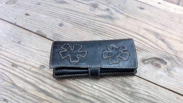 レザーウォレット・レザーパッチワークのお財布の画像1枚目