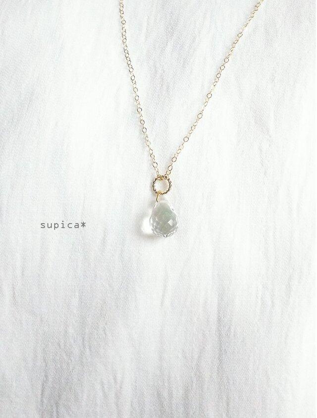 77_【14kgf】1123 天然水晶クリスタルのネックレスの画像1枚目