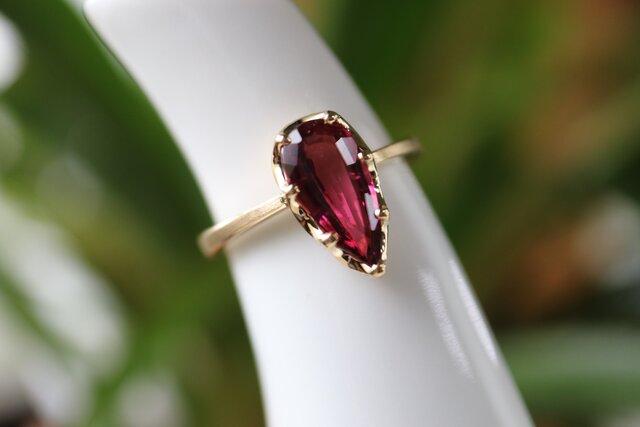 ピンクトルマリン指輪の画像1枚目