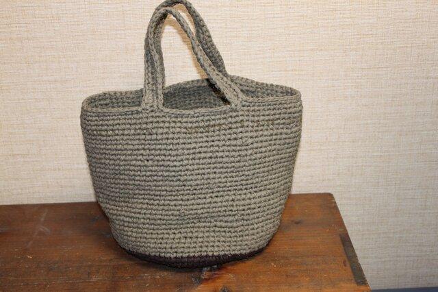 トートバッグ 裂き編みの画像1枚目