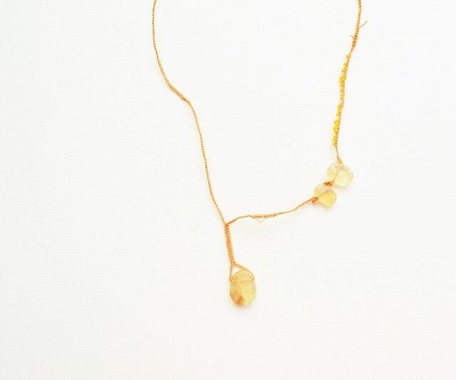 【送料無料】オーバルシトリンのネックレスの画像1枚目