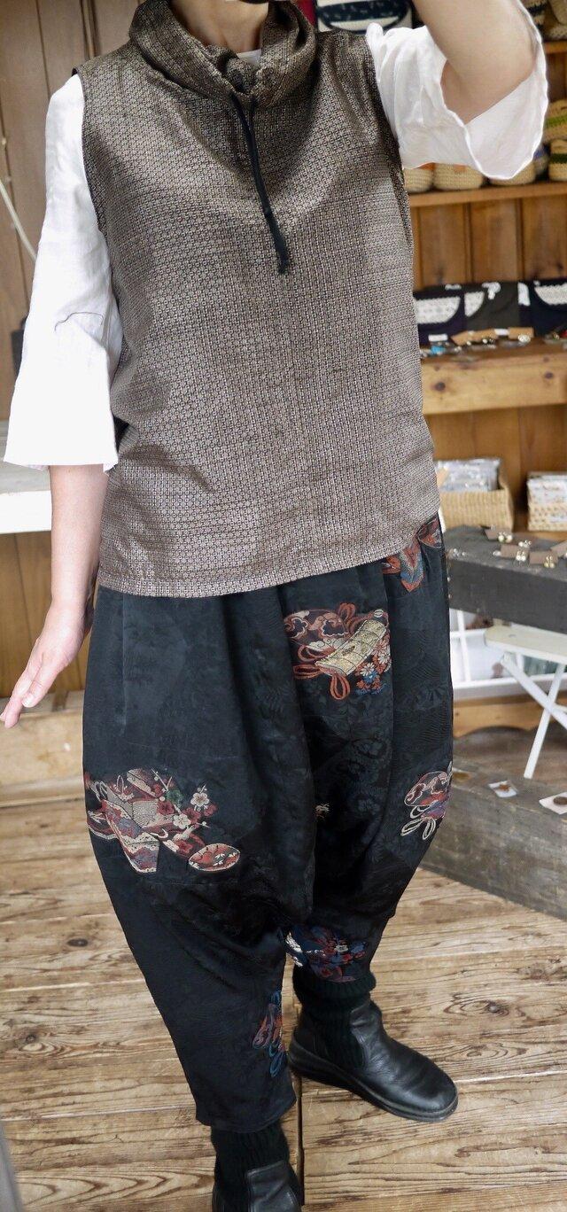 羽織と大島紬からアンサンブルの画像1枚目