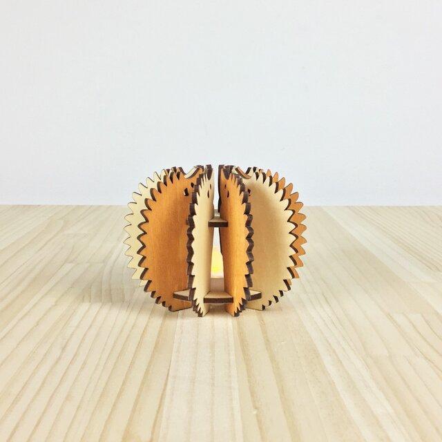 「はりねずみ」木製ミニランプの画像1枚目