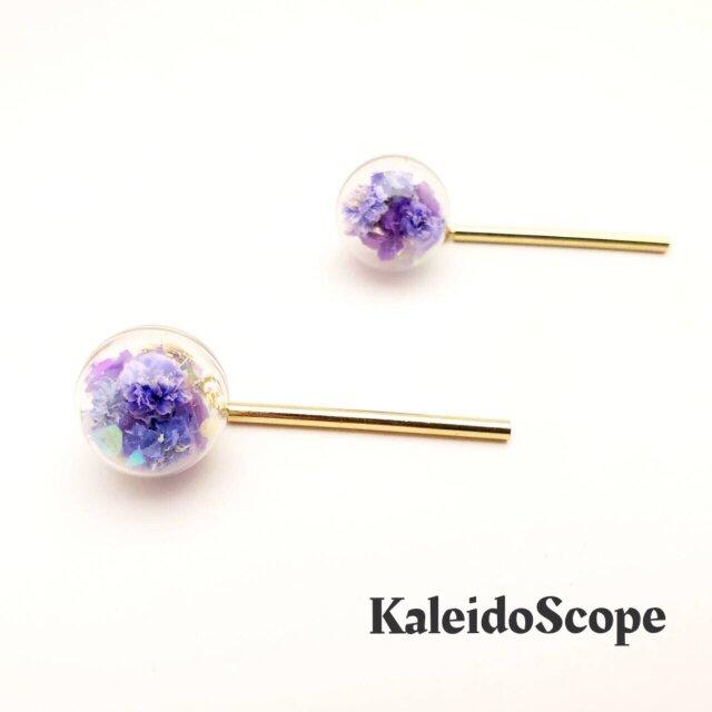 フラワーロリポップ青紫(ガラスドーム)の画像1枚目