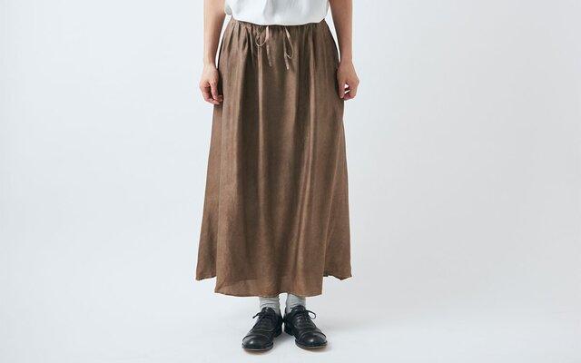 【送料無料】enrica cottonskirt beige / botanical dyeの画像1枚目