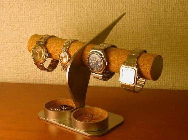 誕生日プレゼントに インテリア腕時計スタンド ダブル丸いトレイの画像1枚目
