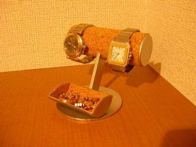 彼氏にプレゼント 腕時計収納、保管!小物入れ付き腕時計スタンドの画像1枚目