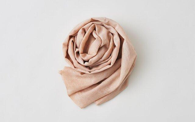 enrica cottonsilk scarf pinkbeige / natural dyeの画像1枚目