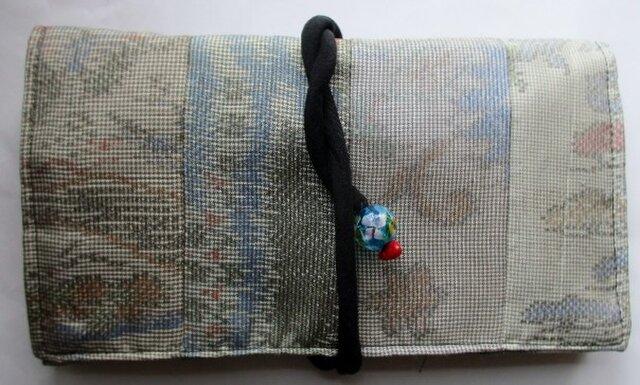 送料無料 色大島紬で作った和風財布・ポーチ 3778の画像1枚目