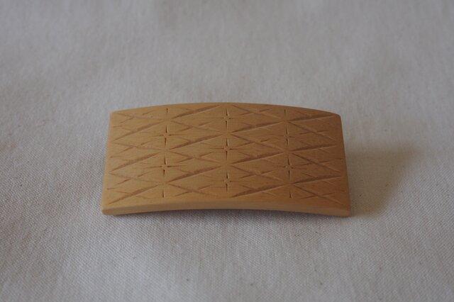 #14 チップカービングバレッタ 【木工彫刻】の画像1枚目