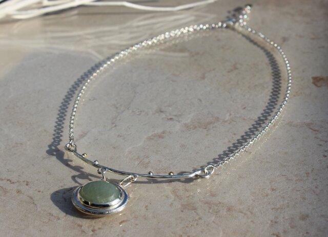 k18 dewdrops jade necklaceの画像1枚目