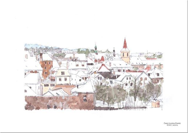 冬景色(チェスキークルムロフ)の画像1枚目