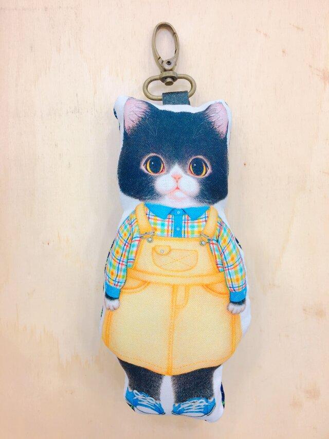 『猫好きによるねこ好きのため』のふわふわキーホルダー いたずら大好きねこ君の画像1枚目