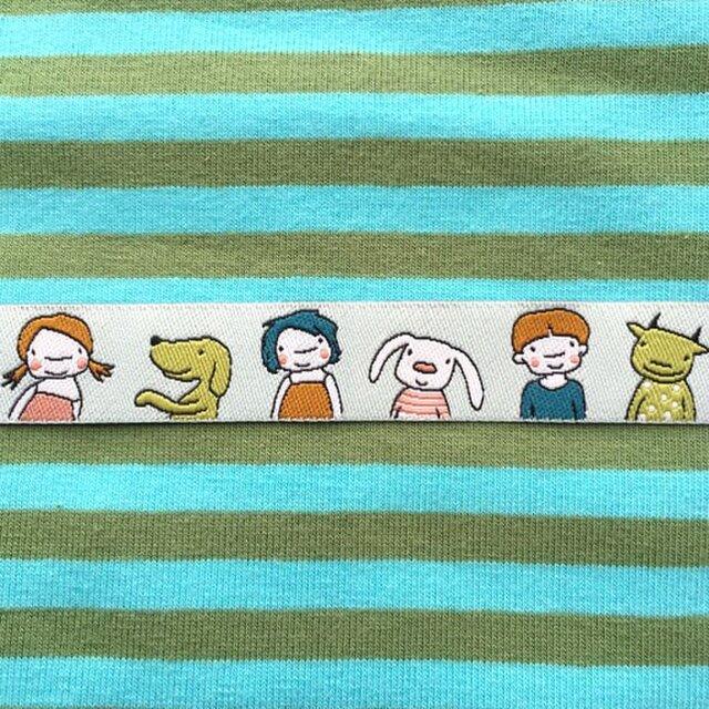 ドイツファーベミクス 刺繍リボン 1m-ガールズ&フレンズの画像1枚目