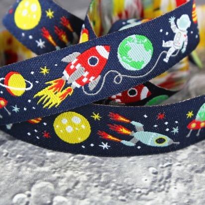 ドイツファーベミクス 刺繍リボン 1m-スペースボーイ 宇宙飛行士の画像1枚目
