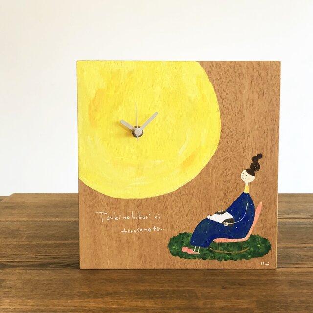 天然木の時計:「月の光にてらされて…。」の画像1枚目