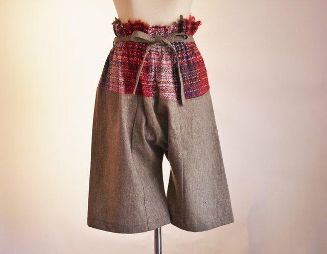 手織り サルエルパンツ秋冬の画像1枚目