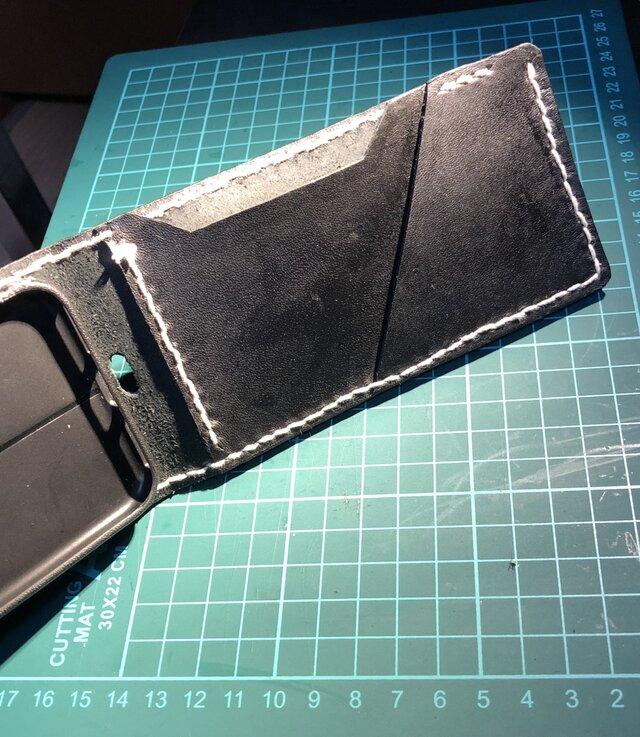 618412dc81 本革レザー縦開きスマホカバー スマホケース | ホリファクトリー ...